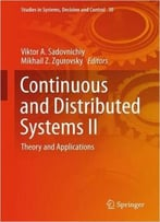 Continuous And Distributed Systems Ii: Theory And Applications