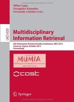 Multidisciplinary Information Retrieval By Mihai Lupu