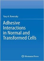 Adhesive Interactions In Normal And Transformed Cells By Yury A. Rovensky