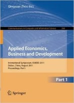 Applied Economics, Business And Development By Qingyuan Zhou