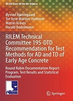 Rilem Technical Committee 195-Dtd Recommendation For Test Methods