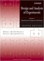 Design And Analysis Of Experiments, Introduction To Experimental Design By Oscar Kempthorne