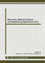 Machinery, Materials Science And Engineering Applications 2014