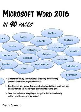 Microsoft Word 2016 In 90 Pages
