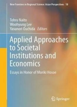 three essays in applied microeconomics Three essays on sustainability  three components: receptivity,  quickly moved in the direction of applied microeconomics,.