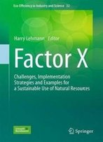 Factor X: Challenges, Implementation Strategies And Examples For A Sustainable Use Of Natural Resources (Eco-Efficiency In Industry And Science)