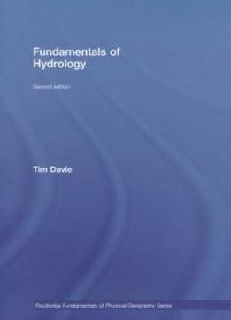fundamentals of hydrology tim davie second edition pdf