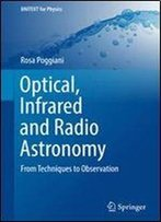 Optical, Infrared And Radio Astronomy: From Techniques To Observation (Unitext For Physics)