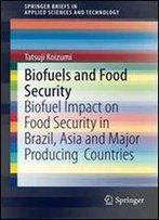 Biofuels And Food Security: Biofuel Impact On Food Security In Brazil, Asia And Major Producing Countries (Springerbriefs In Applied Sciences And Technology)