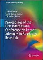 Proceedings Of The First International Conference On Recent Advances In Bioenergy Research (Springer Proceedings In Energy)