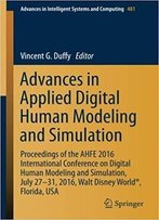 Advances In Applied Digital Human Modeling And Simulation