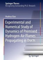 Experimental And Numerical Study Of Dynamics Of Premixed Hydrogen-Air Flames Propagating In Ducts