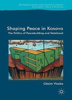 Shaping Peace In Kosovo: The Politics Of Peacebuilding And Statehood (Rethinking Peace And Conflict Studies)