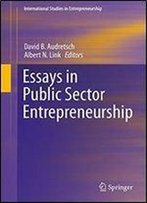 Essays In Public Sector Entrepreneurship (International Studies In Entrepreneurship)