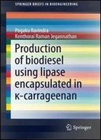 Production Of Biodiesel Using Lipase Encapsulated In -Carrageenan (Springerbriefs In Bioengineering)