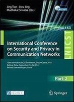 International Conference On Security And Privacy In Communication Networks, Part 2