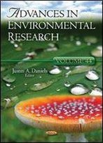 Advances In Environmental Research, Volume 44