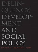 Delinquency, Development, And Social Policy (Current Perspectives In Psychology)