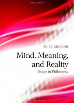 essay on reality philosophy Appearance and reality: an essay on the philosophy of the theater james m edie philosophy and literature, volume 4, number 1, spring 1980, pp 3-17 (article.