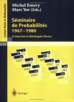 Séminaire De Probabilités 1967-1980: A Selection In Martingale Theory (Lecture Notes In Mathematics / Séminaire De Probabilités) (French And English Edition)