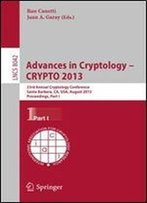 Advances In Cryptology - Crypto 2013 By Ran Canetti