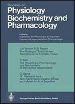 Reviews Of Physiology, Biochemistry And Pharmacology By J.c.g. Coleridge