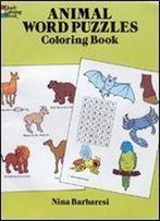 Animal Word Puzzles Coloring Book (Dover Coloring Books)
