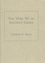 The Verb Be In Ancient Greek