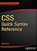 Css Quick Syntax Reference (Apress)
