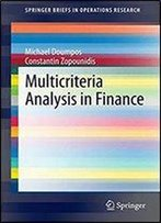 Multicriteria Analysis In Finance (Springerbriefs In Operations Research)