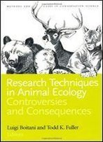 Research Techniques In Animal Ecology
