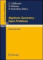 Algebraic Geometry - Open Problems: Proceedings Of The Conference Held In Ravello, May 31 - June 5, 1982 (Lecture Notes In Mathematics) (English And French Edition)