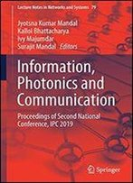 Information, Photonics And Communication: Proceedings Of Second National Conference, Ipc 2019