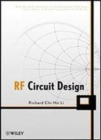 Rf Circuit Design (Information And Communication Technology Series) 1st Edition