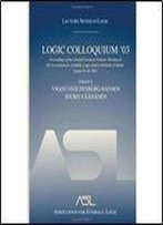 Logic Colloquium 03: Proceedings Of The Annual European Summer