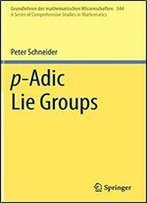P-Adic Lie Groups (A Series Of Comprehensive Studies In Mathematics, Vol. 344)