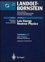 Tables Of Neutron Resonance Parameters (Supplement To Subvolume B) (Landolt-Bornstein: Numerical Data And Functional Relationships In Science And Technology - New Series)
