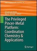 The Privileged Pincer-Metal Platform: Coordination Chemistry & Applications (Topics In Organometallic Chemistry)