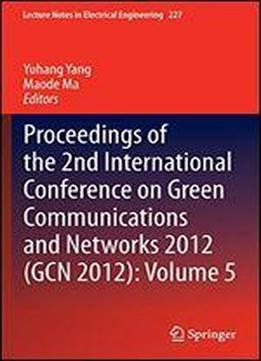 Proceedings Of The 2nd International Conference On Green