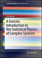 A Concise Introduction To The Statistical Physics Of Complex Systems (Springerbriefs In Complexity)