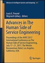 Advances In The Human Side Of Service Engineering (Advances In Intelligent Systems And Computing)