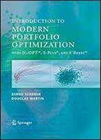 Introduction To Modern Portfolio Optimization With Nuopt And S-Plus