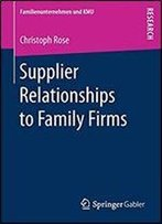 Supplier Relationships To Family Firms